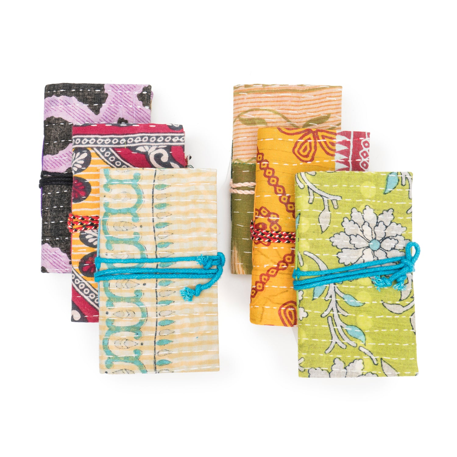 Kantha Jogi Journals - Set of 6 (Assorted)