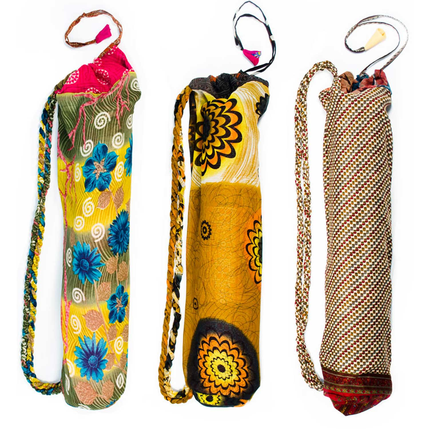 Upcycled Sari Yoga Bag - Assorted - Sold Individually