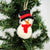 Christmas Red Snowman Felt Ornament
