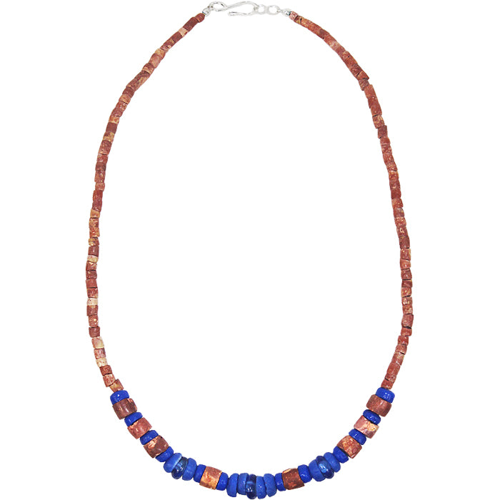 Down to Earth Necklace Blue