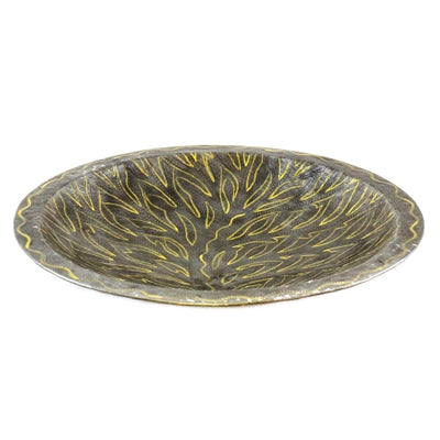 Tree of Life Haitian Metal Fruit Bowl Tabletop Décor, 14""