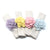 Pastel Zinnias Felt Napkin Rings, Set of 4