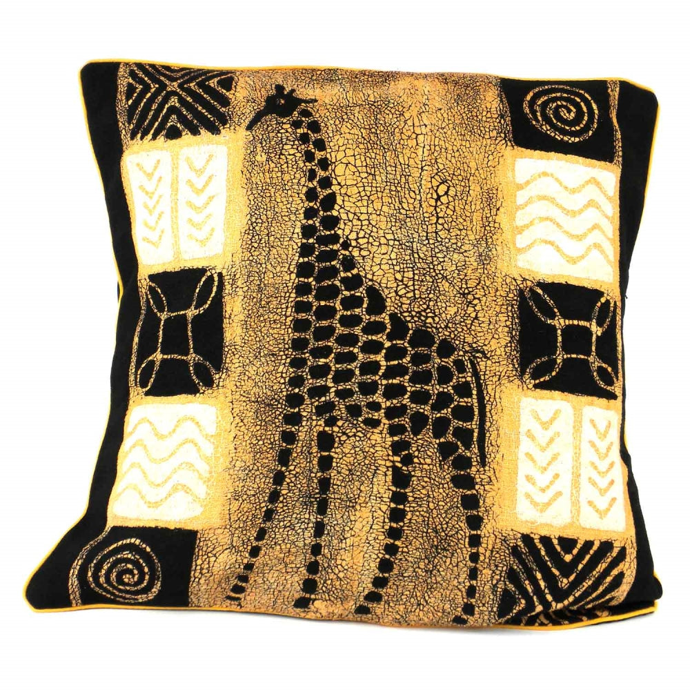 Handmade Giraffe Batik Cushion Cover