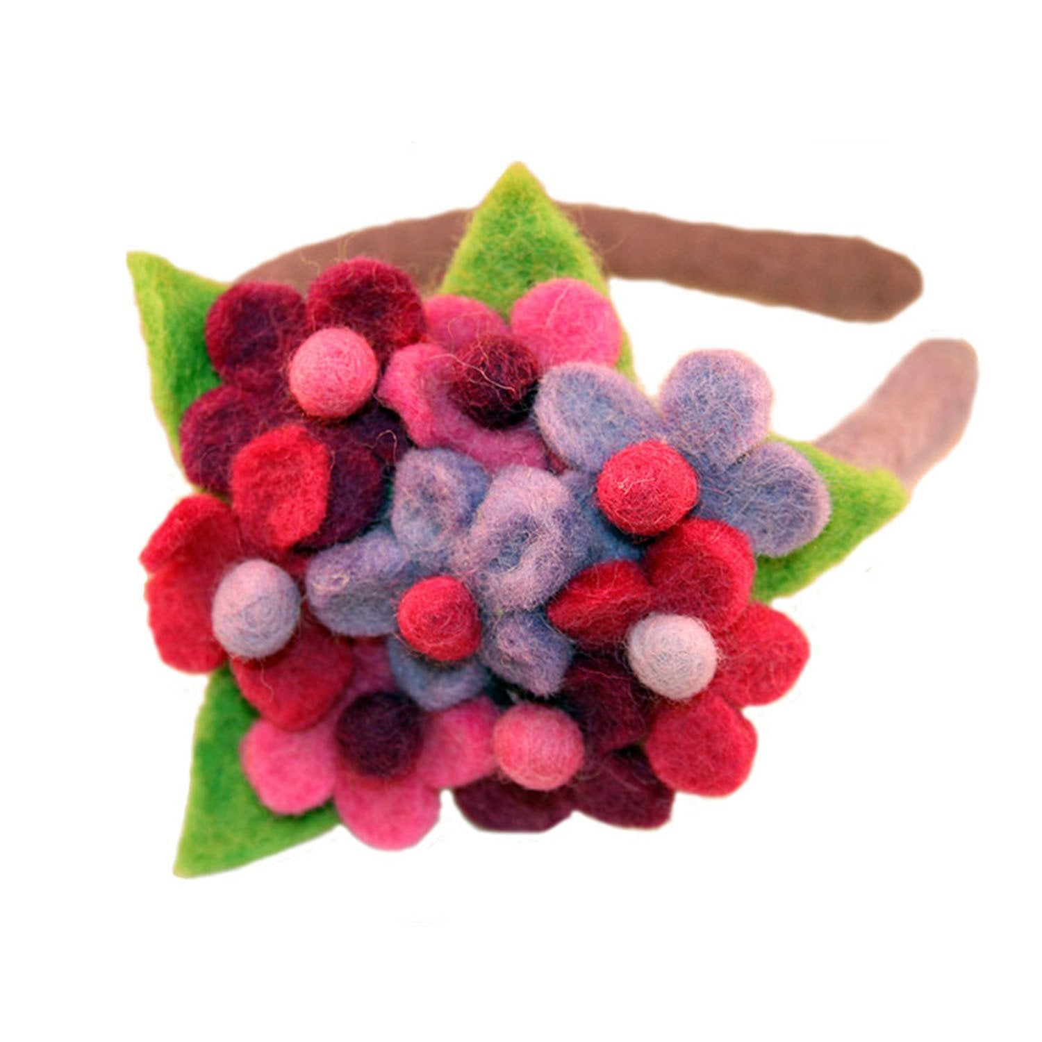 Hand Crafted Felt from Nepal: Headband, Flower