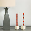 Hand-Painted Dinner Candles, Pair (Kukomo Design)