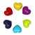 Soapstone Hearts in Assorted Solid Colors- Approx 3cm (1 inch)