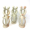 Family Soapstone Sculptures Natural Stone - 10 inch