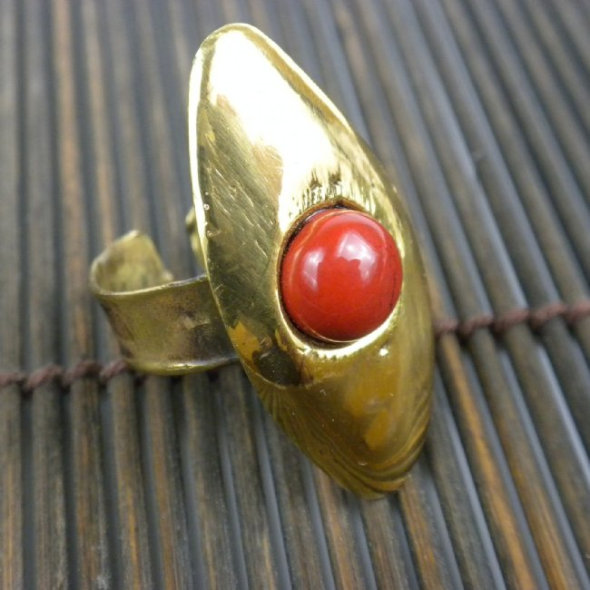 Red Jasper Oval Ring