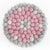 Cotton Candy Pink Flower Felt Ball Trivet