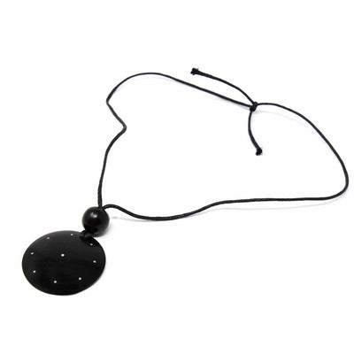 Blackwood Disk Aluminum Dots Necklace