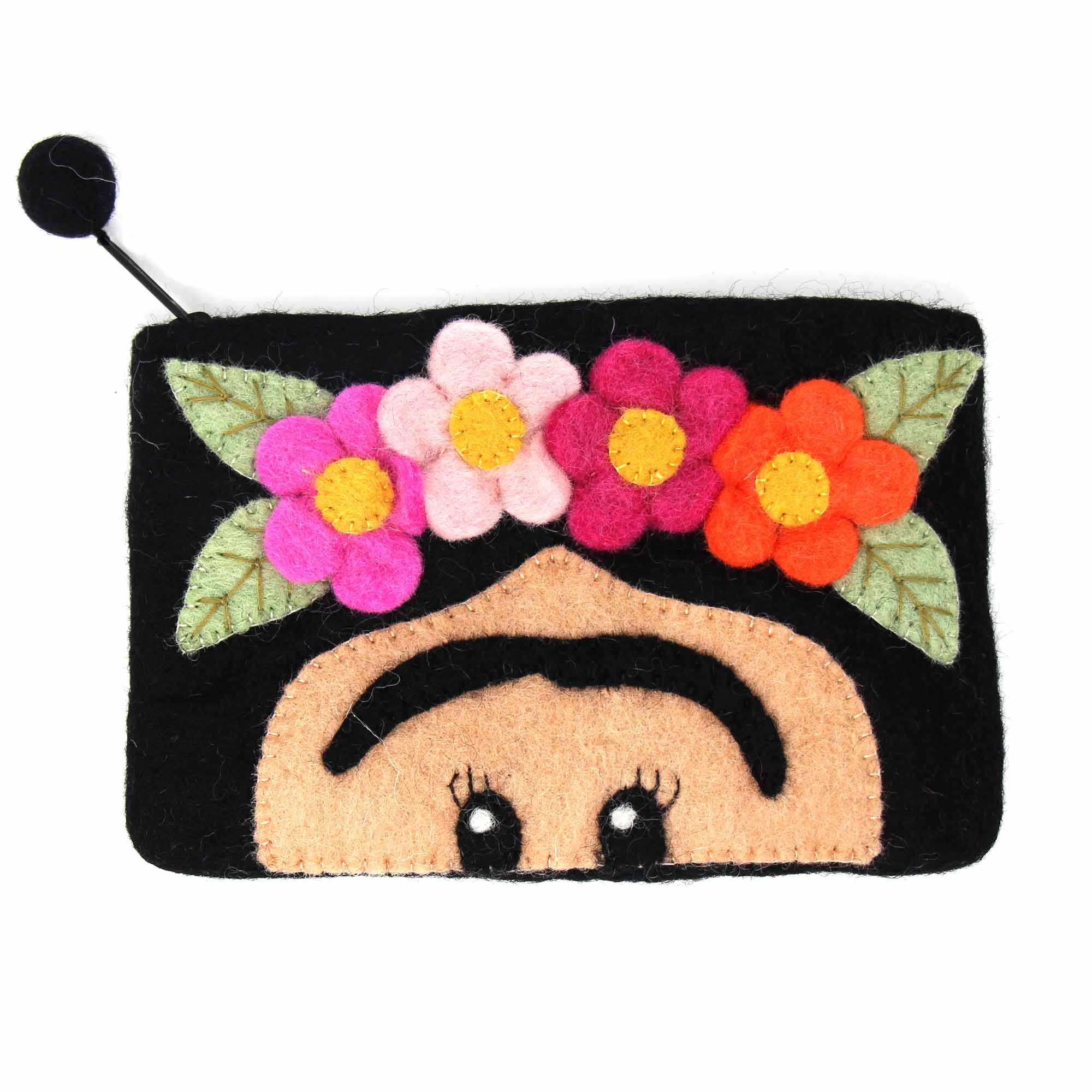 Frida Felt Zipper Pouch