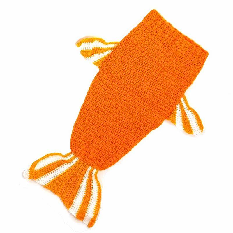 Knit Goldfish Baby Swaddle- Handmade