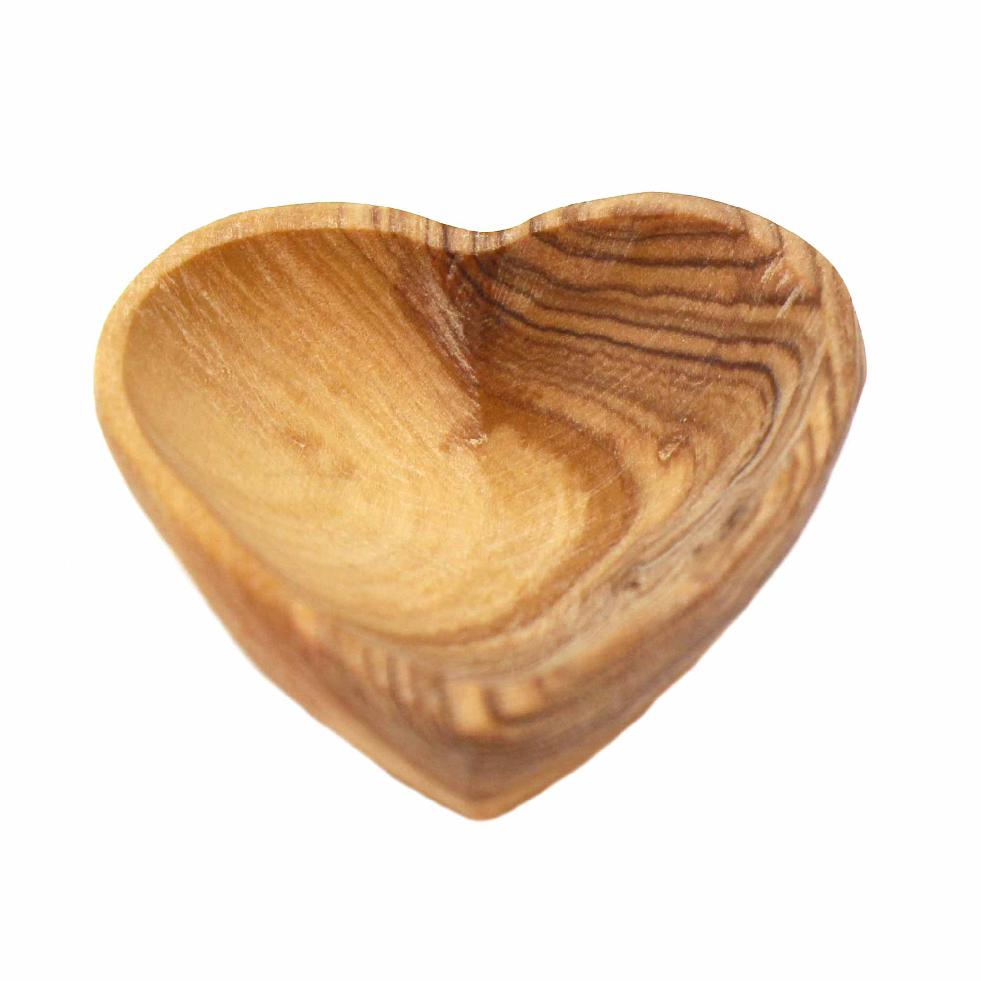 Petite Olive Wood Heart Trinket Bowl