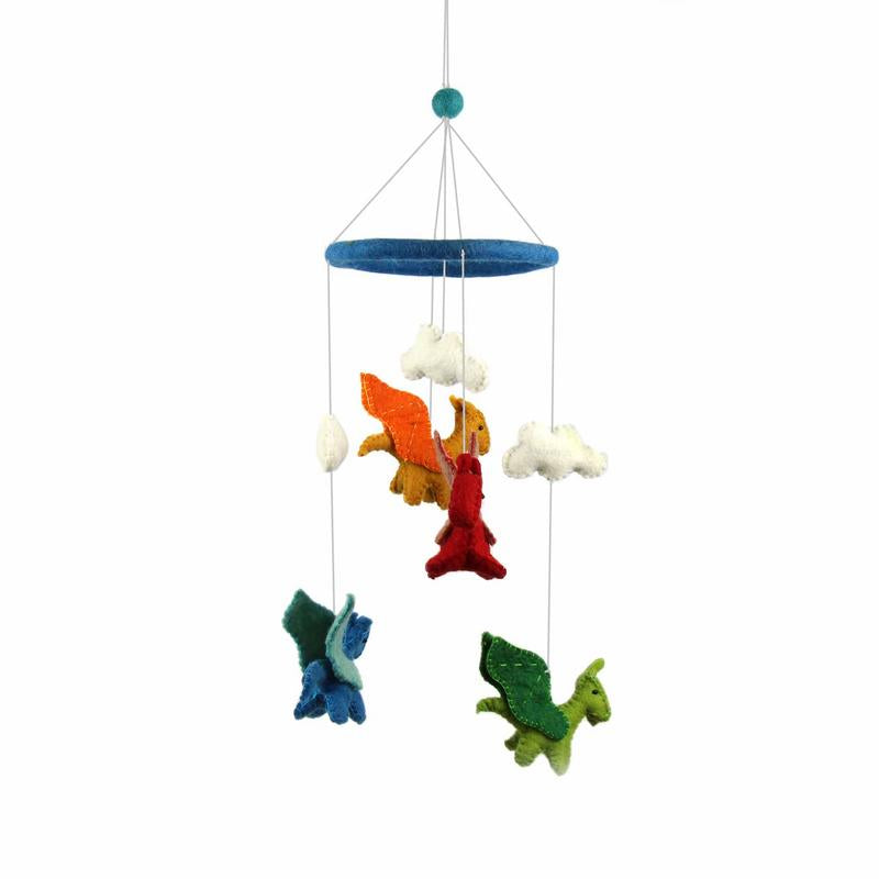 Blue Dragons Felt Nursery Mobile