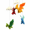 Hand Crafted Felt from Nepal: Mobile, Dragon
