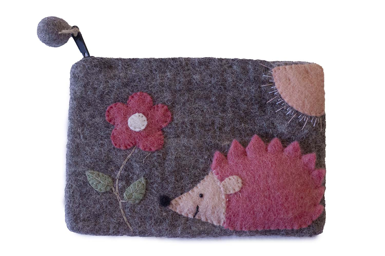 Hedgehog Felt Zipper Pouch