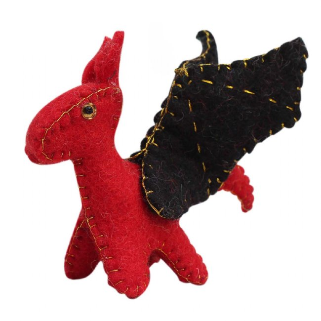 Fire Dragon Felt Ornament