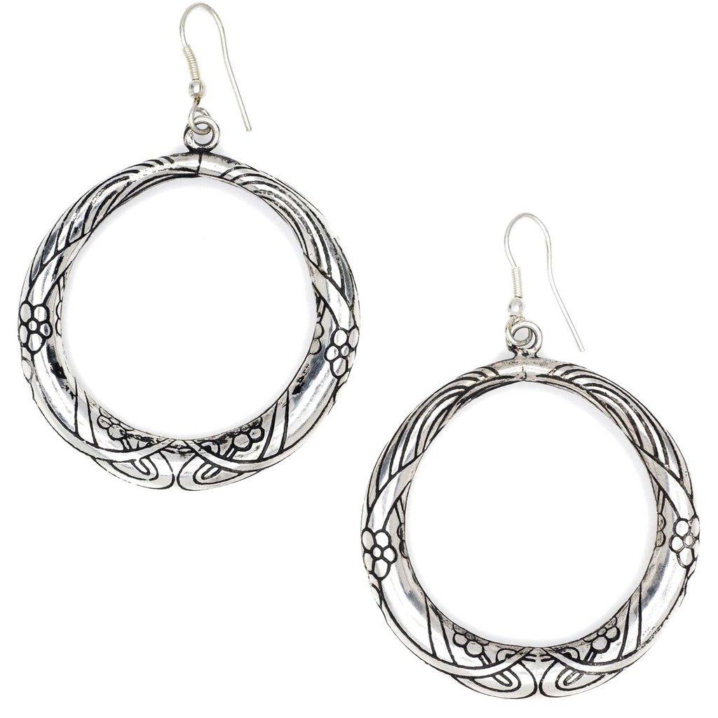 Selene Hoop Earrings - Silver