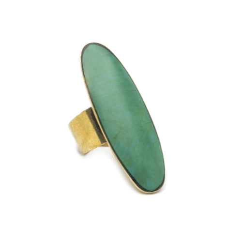 Tara Stone Ring - Green - Pack of 6