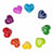 Soapstone Hearts in Assorted Colors with Designs- Approx 3cm (1 inch) - Yellow & Green Only