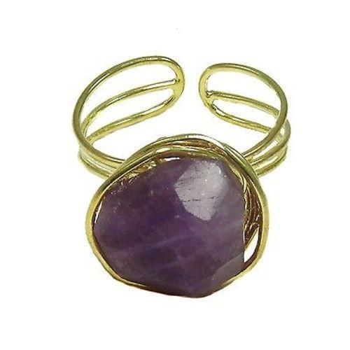 Agate Ring - plum