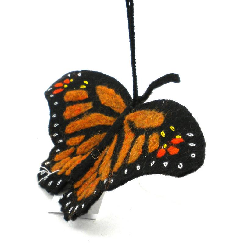 Felt Monarch Butterfly Ornament