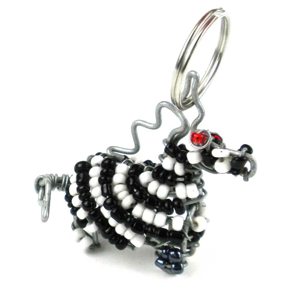 Zebra Key Ring