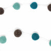 Pom Pom Felt Garland Kids' Room Décor, Blue/Grey