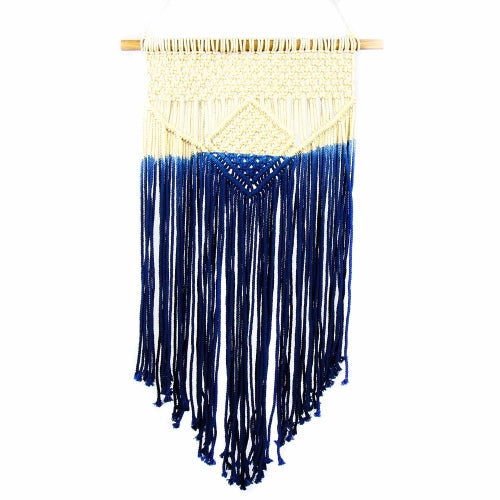Macrame Wall Hanging in Blue