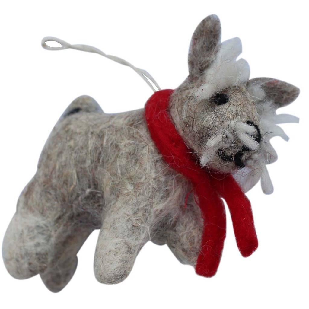 Terrier Dog Felt Ornament