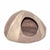 Cat Cave Pet Bed Felted Wool, Pink Sand/Tan