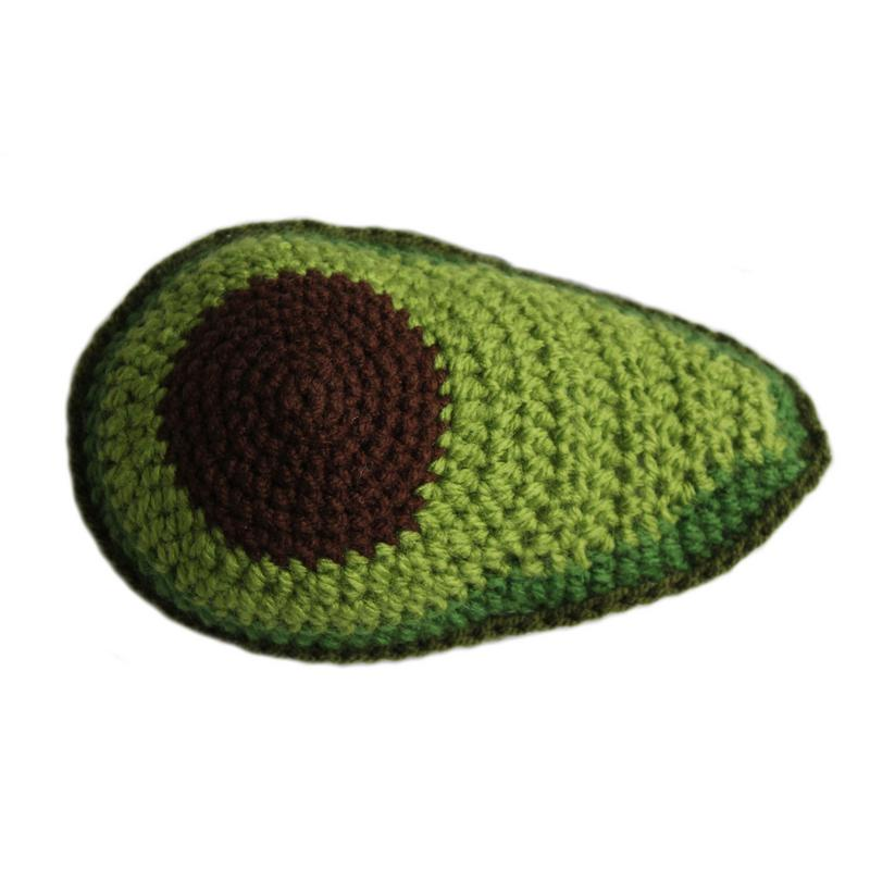Knit Avocado Rattle