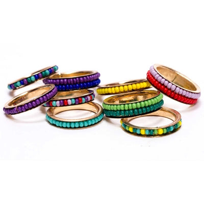 Blithe Bead Rings- Set of 9 Assorted