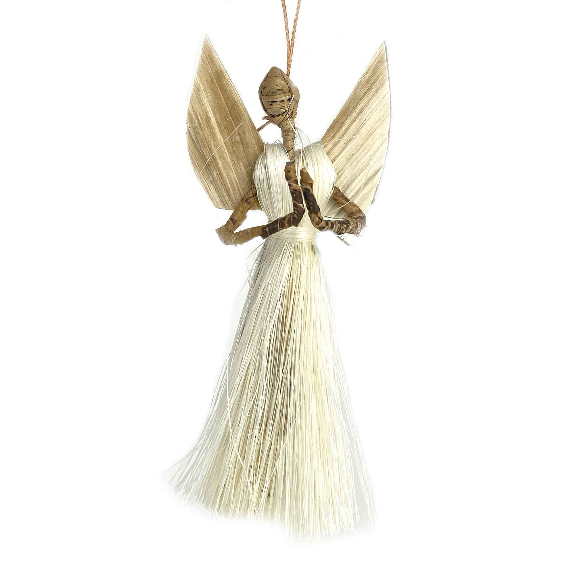 3.5 inch Sisal Angel Ornament - Prayer