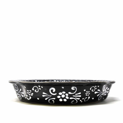 Encantada Handmade Pottery Serving Dish, Ink