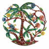 Palm Tree Scene Haitian Metal Drum Wall Art, 24""