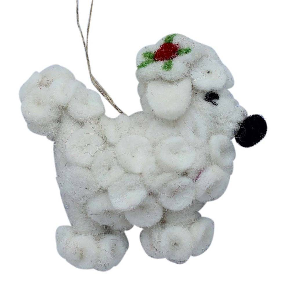 Poodle Dog Felt Ornament