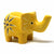 Soapstone Elephant - Medium Yellow