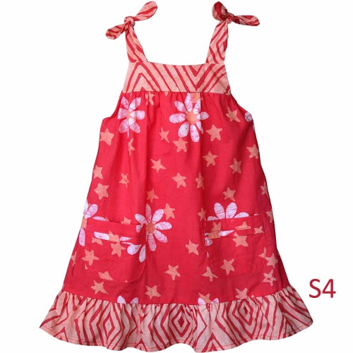 Girls Pocket Dress - Payaya Daisy Star - S4