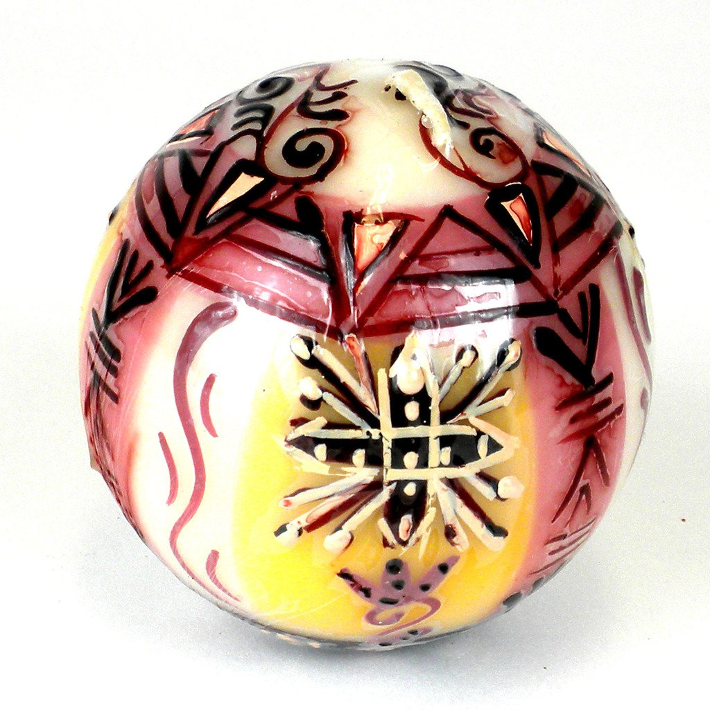 Hand Painted Candle - Ball - Halisi Design