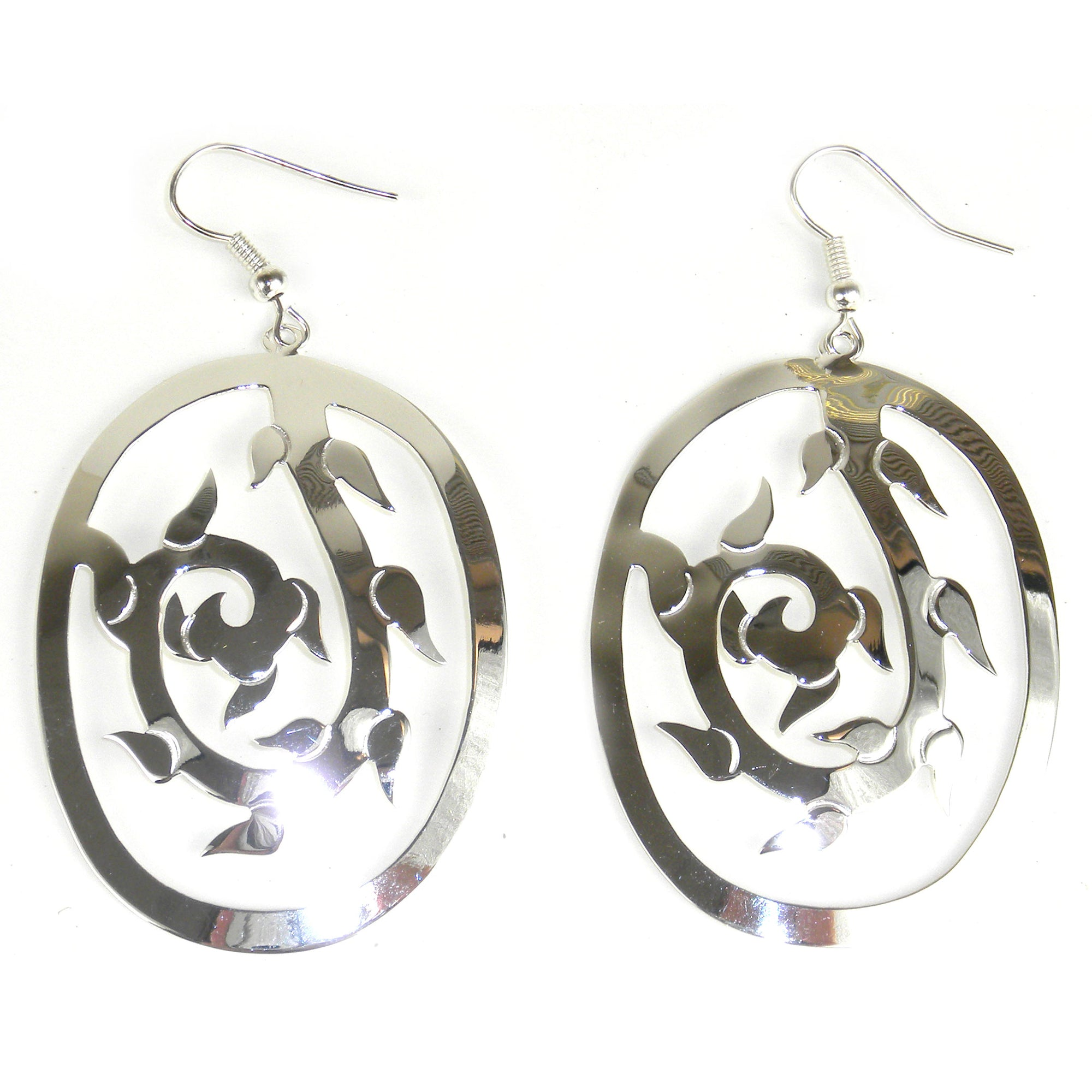 Large Silver-plated Vine Earrings