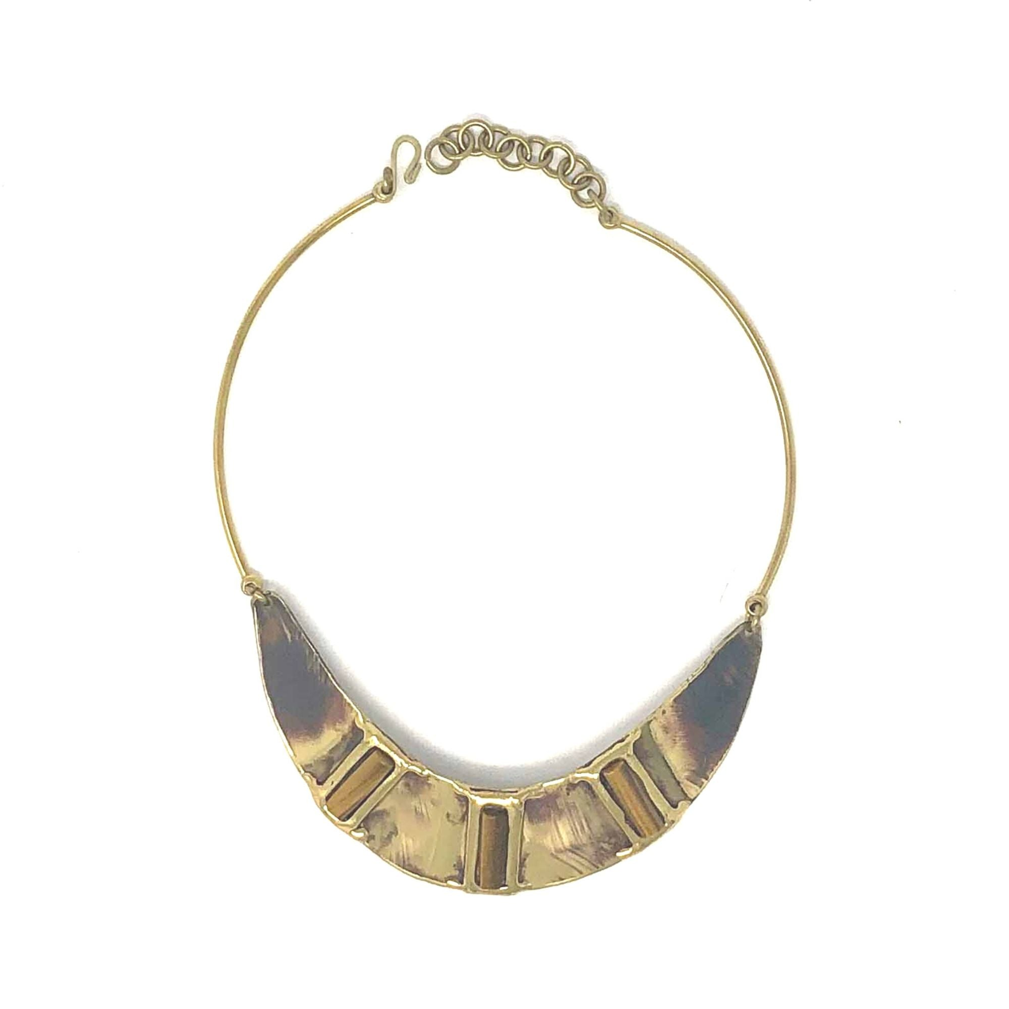 Brown Tiger's Eye Collar Necklace