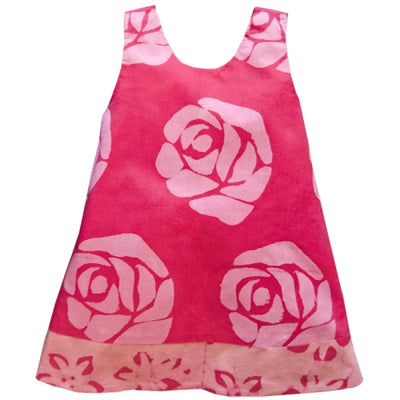 Baby Reversible Dress - Starflower - Pink 12M