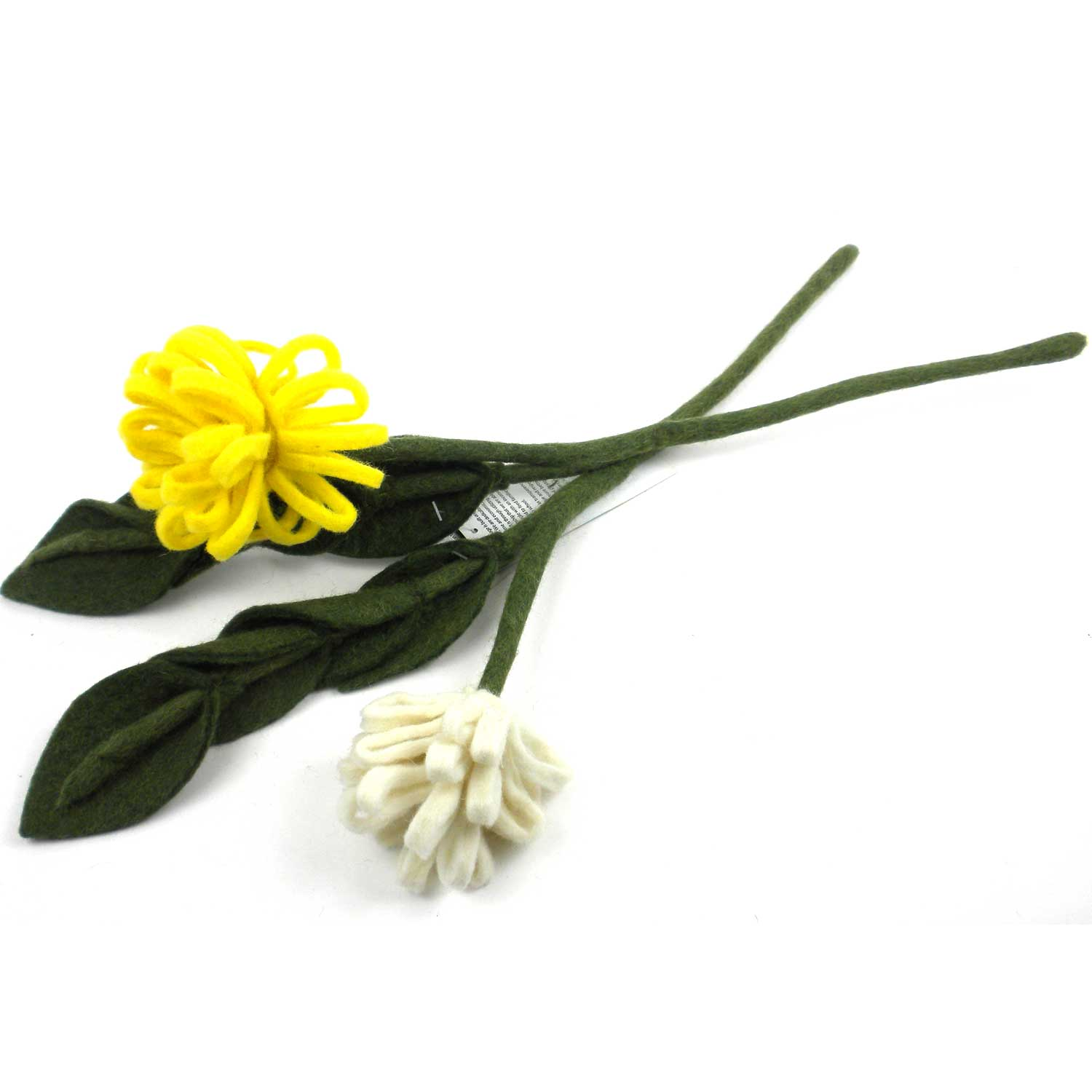 Chrysanthemum Felt Flower  Yellow or White- Sold individually