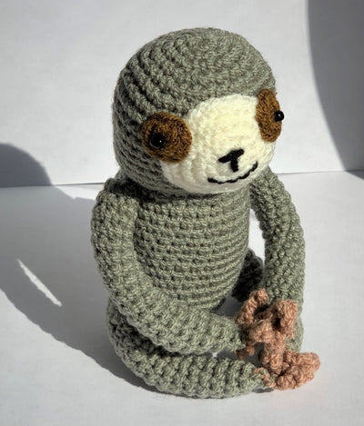 Knit Sloth Rattle