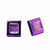 Square Glass Stud Earrings, Fuschia Fun - Pack of 3
