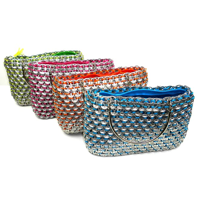Colorful Serinita Recycled Pop Top Bag with Small Handles