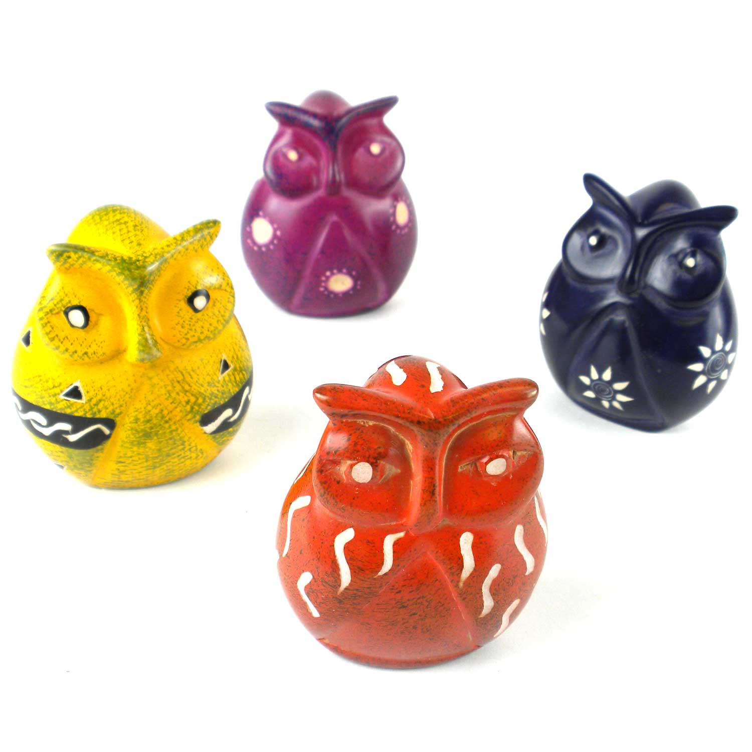 Soapstone Owls - Large 3 inches