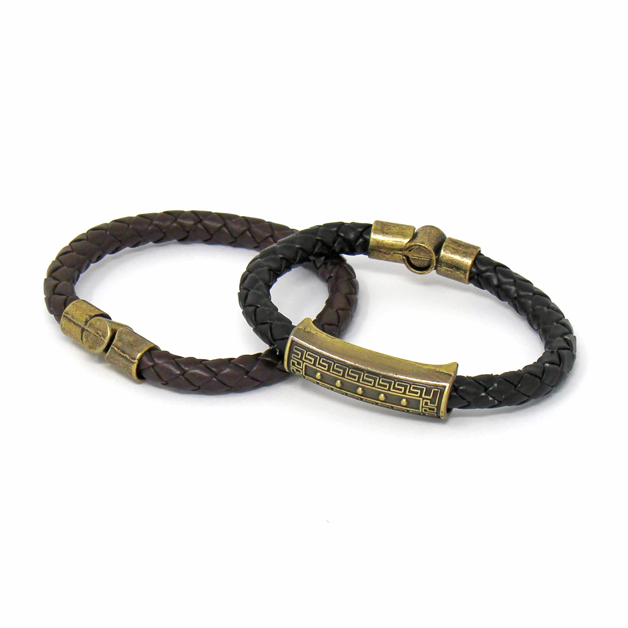 Black Leather Bracelet, Unisex