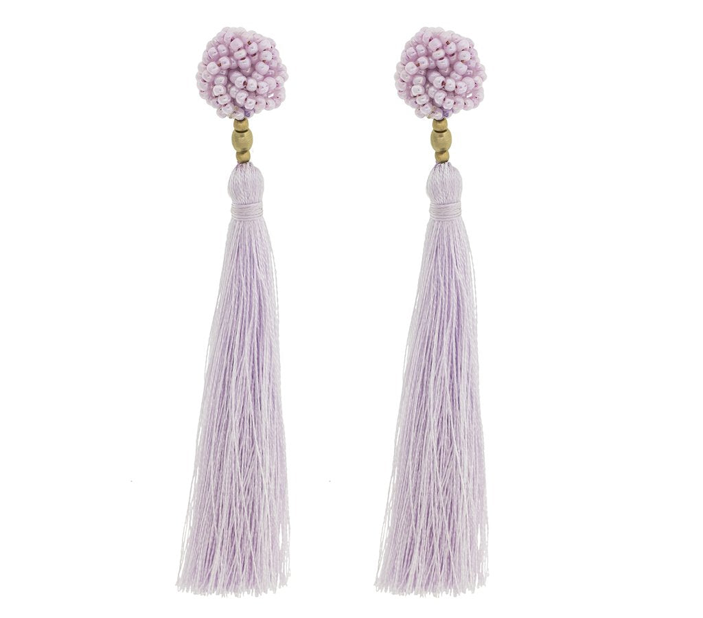 The Rosette Tassel Earring, Seashell